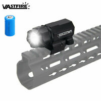 Tactical Gun Flashlight Handgun Torch Pistol Light for 20mm Picatinny Rail Mount