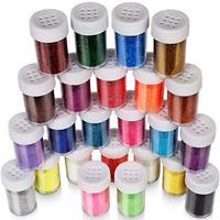 24pcs Fine Glitter Set 20g Glitter Shake Jars Art Crafts Painting Scrapbooking