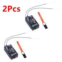 2Pcs S603 Receiver For Spektrum DSMX & DSM2 Compatible RC JR 7 Channels 2.4GHz