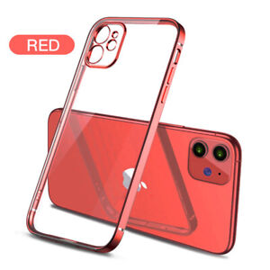 For iPhone 12 11 13 Pro Max XR XS 8 7 SE Plating Clear Soft TPU Phone Case Cover