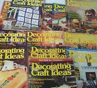 Lot of 12 Decorating Craft Ideas Magazines 1982 1983 1984