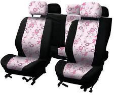 Nueva Flor Rosa 9 pieza asiento de coche Cover Set