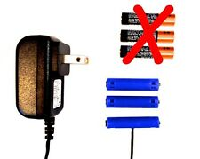 AAA Battery Eliminator Power Adapter 4.5 V DC Replace 3 AAA batts w/AC wall pwr