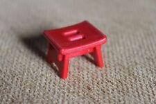 PLAYMOBIL - Accessoires mobilier - tabouret rouge - ferme - campagne