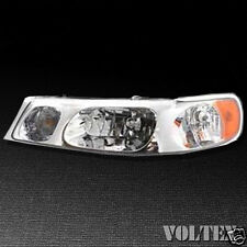 1998-2002 Lincoln Town Car Headlight Lamp Clear lens Halogen Driver Left Side