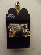 WALY DISNEY PHOTO PIN WITH MICKEY & MINNIE MOUSE CELEBRATING 100 YEARS