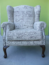 WING ARM CHAIR - NEW- REVENGE -FRENCH SCRIPT