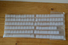 104 touches de clavier blanc translucide ordinateur lumineuse RGB gamer kit