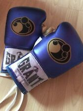 Grant (12oz) Boxing Gloves  blue and black and silver