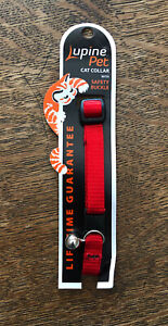"""Breakaway Safety Buckle Red Cat Collars W/ Bell 8""""-12"""""""
