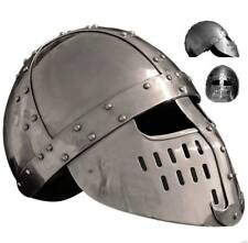 HELMET WITH INNER LEATHER LINER MEDIEVAL KNIGHT A1