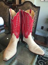 "TO Stanley ""BRAND NEW"" 17 E Rough out Handmade Custom Cowboy Boots"