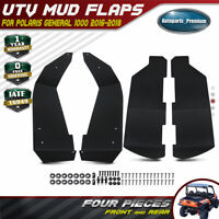 UTV Mud Flaps Fender Flares Extensions Front&Rear for Polaris General 1000 16-19