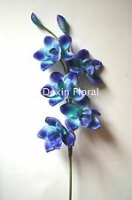 Blues Orchids Centerpieces Real Touch Flowers Silk Wedding Bridal Bouquets Dexin