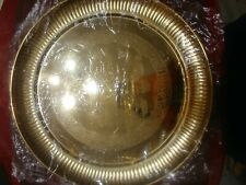 11 1/2 Inch Gold Plated Steel Puja Thali Plate