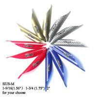 50pcs Decut Archery Spin Vanes Spiral Feather Fletches DIY Right Wing SIUS-M