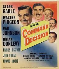 COMMAND DECISION Movie POSTER 27x40 B Clark Gable Walter Pidgeon Van Johnson