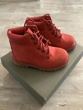Kid's 6-inch Premium Timberland Boot Size 8 Red Suede Toddlers