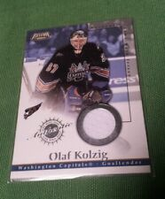 2003 PACIFIC EXCLUSIVE NHL HOCKEY CARD AUTHENTIC GAME WORN JERSEY OLAF KOLZIG