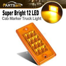 Amber 12LED Roof Running Top Clearance Marker Light w/Reflector for Freightliner