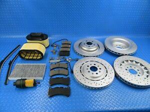 Maserati Ghibli front rear brake pads rotors filters #8504 14-16