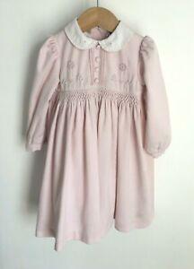 Sarah Loiuse Size 12-18 Months Pink Smocked Baby Dress