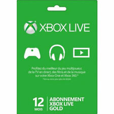12 months subscription Xbox Live Gold NORTH AMERICA