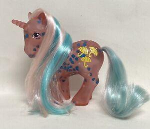 My Little Pony MLP G1 1990 US Glow 'n Show Pony Dazzleglow Blue Hearts