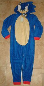 Sonic the Hedgehog blanket sleeper costume pajamas   S-6/7  M-8  L-10/12   NEW