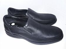 "Shoes For Crews SFC 1022 ""Dylan"" Black Leather Loafers Mens Slip Oil Resistant S"