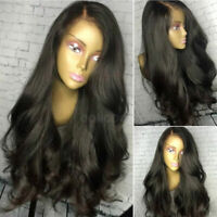 Silk Top Full Lace Wig 100% Remy European Human Hair Wigs Long Straight Wavy US