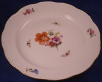 Antique KPM Berlin Porcelain Plate Osier Relief Porzellan Teller German Germany