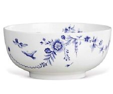 """Wedgwood Harmony Serving Bowl 8"""" Fruit/Salad Blue & White Made in England New"""