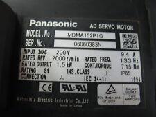 1PCS    used Panasonic servo motor MDMA152P1G