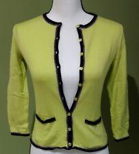 PHILOSOPHY di ALBERTA FERRETTI Women's Green Cardigan Long Sleeve Size 4 Italy