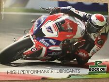 MOTORCYCLE SUPERBIKES RACING POSTER HONDA ACERBIS ALPINESTAR ROCK OIL SHOEI