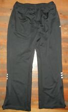 ADIDAS Black Polyester TRACK PANTS Sweat Soccer Gym Athletic Sz Women's MEDIUM