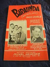 Partitura Paso El Paso de Jonato Baraunda de R.Joly y jonato 1953