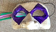 Vintage Masque Arrayed Purple Diamond Eyes Paper Maché Mask