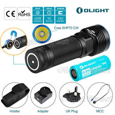 Olight R50 PRO Seeker Rechargeable CREE LED Torch 3200lumens 26650 Flashlight UK