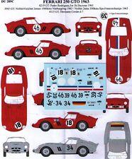 decal 1/43 FERRARI 250 GTO '62 Ch.4219GT + 3943GT + 4115GT RENAISSANCE DU289C