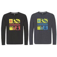 Ski-Doo Mens X-Team Long Sleeve T-Shirt Soft Cotton Printed Logos Casual Tee