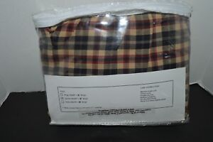 VHC Carson Star Plaid Bedskirt Queen Cotton New Farmhouse