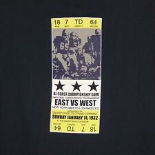 2XL Snoop Dogg Clothing Company Long Sleeve East vs West Football Ticket T Shirt