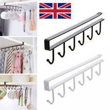 2X Under Shelf Cup Mug Holder Hangers Storage Racks Kitchen Cupboard UK