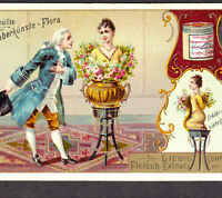 Contortion Flower Magic Trick Revealed S409 Liebig Illusion Victorian Trade Card