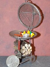 Dollhouse Miniature Grill with Food Reutter Porcelain 1:12 G34 Dollys Gallery
