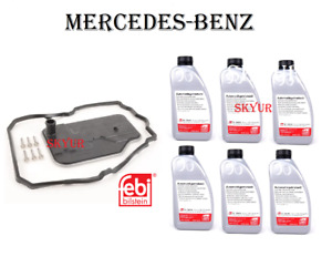 Mercedes 7-Speed Auto Transmission Filter+Gasket+6 Liters Of Fluid Set