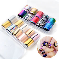 10 Rolls Mix Style Nail Art Foil Wrap Transfer Star Sticker Decal Decor With Box