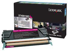 ORIGINAL LEXMARK tóner x748h3mg x748h1mg AGENTA 12.000 páginas X748 a-artículo